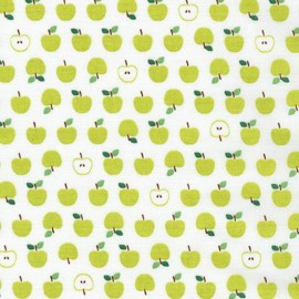 Tissu coton Mini Prints Apple - green x 10cm