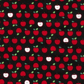 Tissu coton Mini Prints Apple - black x 10cm