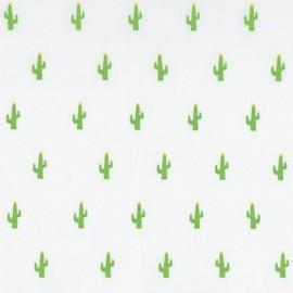 Tissu coton Mini Prints Cactus - white x 10cm
