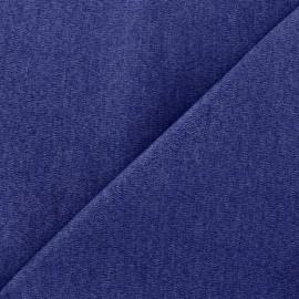 Elastic plain jeans fabric - blue x 10cm