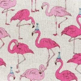 Tissu toile de coton Flamingo - beige x 11cm