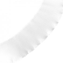 Plissed ribbon - white x 1m