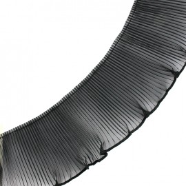 Plissed ribbon - black x 1m