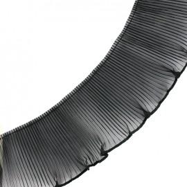 Ruban plissé - noir x 1m
