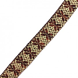 Lurex strap Anka - natural/copper x 1m