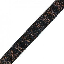 Lurex strap Anka - night blue/copper x 1m