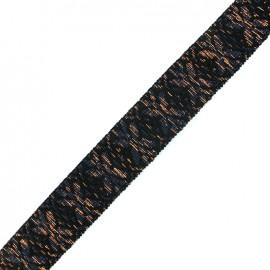 Sangle lurex Anka - bleu nuit/cuivre x 1m