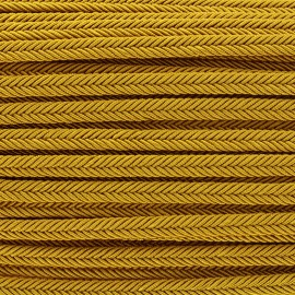 Braid ribbon Amaya - old gold x 1m