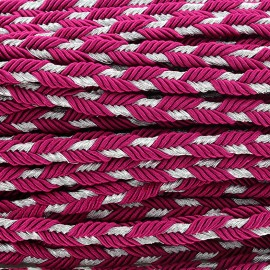 Lurex braided ribbon Delicia - violine x 1m