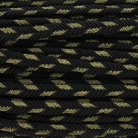 Lurex braided ribbon Delicia - black/gold x 1m