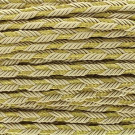 Lurex braided ribbon Delicia - gold/golden x 1m