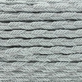 Lurex braided ribbon Delicia - silver/silvery x 1m