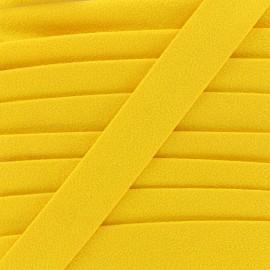 Biais aspect daim - jaune x 1m