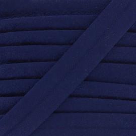 Biais aspect daim - bleu nuit x 1m
