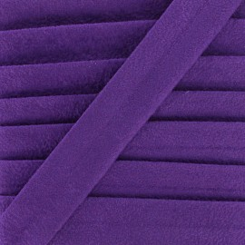 Biais aspect daim - violet x 1m