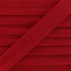 Biais aspect daim - rouge x 1m