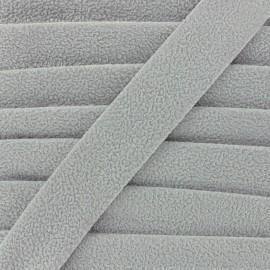 Aspect buckskin bias binding - grey x 1m