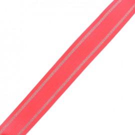 Lurex strap Tania - candy pink/silver x 1m