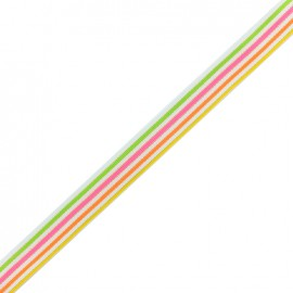Lurex grosgrain Ribbon Sweet - multi x 1m