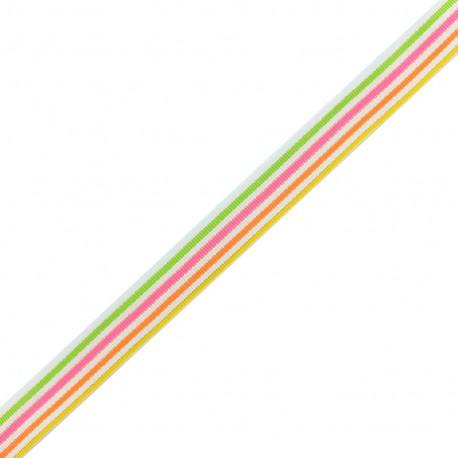 Lurex grosgrain Ribbon Sweet - multi x 1m