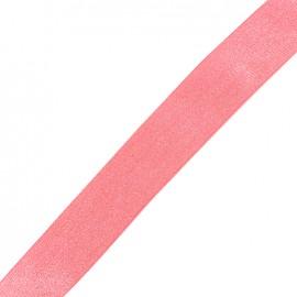 Lurex chevron strap Candy - pink/silver x 1m