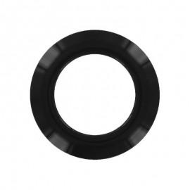 Oeillet à clipper plastique rond - noir