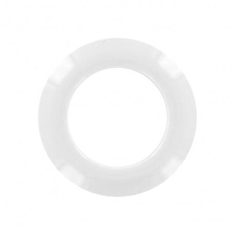 Oeillet à clipper plastique rond - blanc