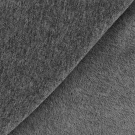 Plain Sweat with minkee reverse side fabric - anthracite x 10cm