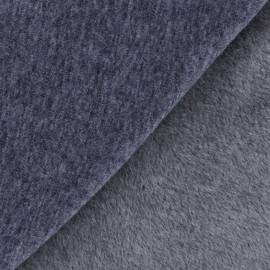 Plain Sweat with minkee reverse side fabric - denim blue x 10cm