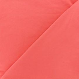 Tissu sweat léger Uni - corail x 10cm