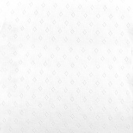 Openwork jersey fabric Diamond - white x 10cm