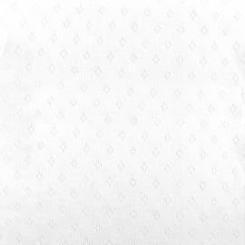 Tissu jersey maille ajourée Diamond - blanc x 10cm