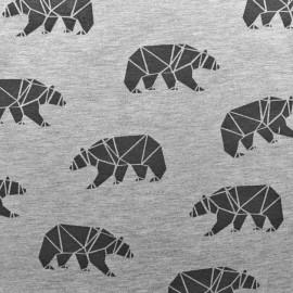 Tissu jersey Poppy Polar bear - black x 10cm