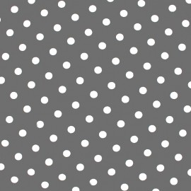 Cotton Fabric pois 7 mm - white/grey light x 10cm