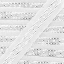 Broderie anglaise Lili - blanc x 1m