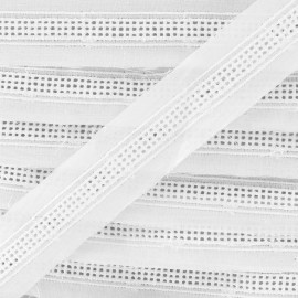 Broderie anglaise Tilly - blanc x 1m