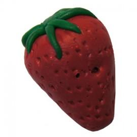 Bouton fraise fimo