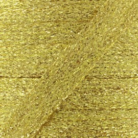 Cordon plat tressé lurex - doré x 1m
