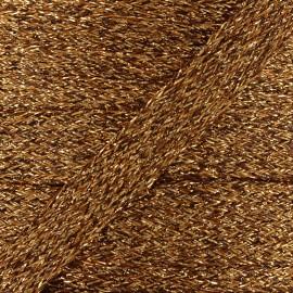 Cordon plat tressé lurex - cuivre x 1m