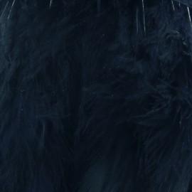 Galon Plume effet nacré 10cm - marine x 50cm