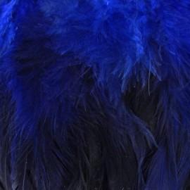 Galon Plume effet nacré 10cm - bleu navy x 50cm