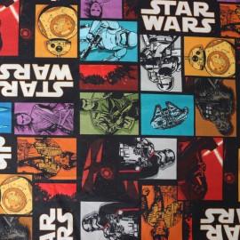 Tissu popeline Star Wars - Comics x 34cm