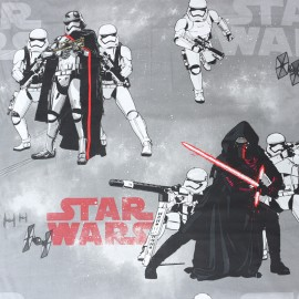 Cotton fabric  Star Wars Original - grey x 63cm