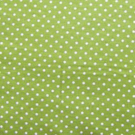 Cotton Fabric little dots - lime x 10cm