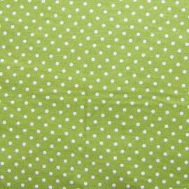 Tissu coton petits pois - anis x 10cm