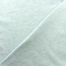 Tissu jersey chiné - bleu clair x 10cm