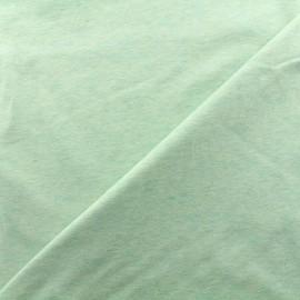 Tissu jersey chiné - vert clair x 10cm