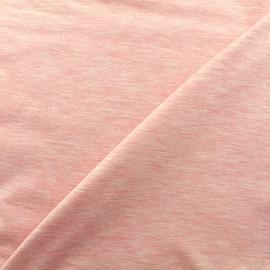 Mocked jersey fabric - light pink x 10cm