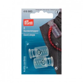 Cord end Prym - transparent x 2