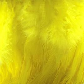 Galon Plume effet nacré 10cm - jaune x 50cm